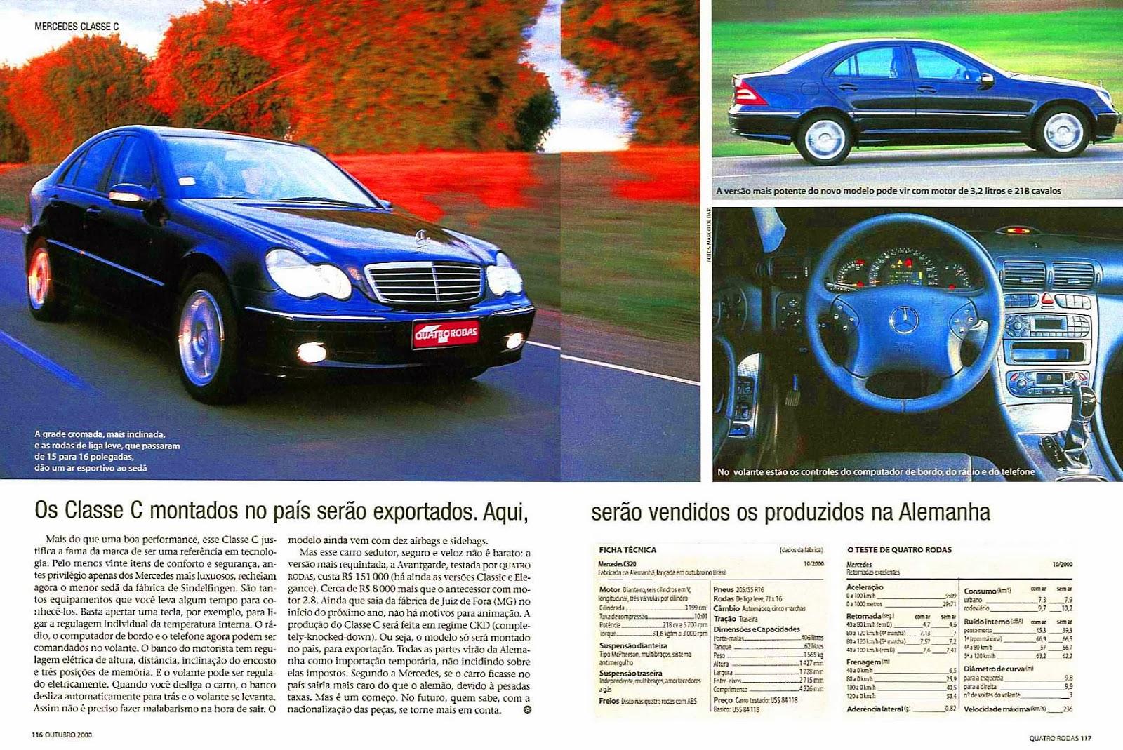 (W203): Avaliação - Revista Quatro Rodas - C320 - outubro/2000 483%252C117%252C40%252C10%252CTE