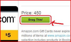 How to order an Amazon Gift Card on Swagbucks Snagthis