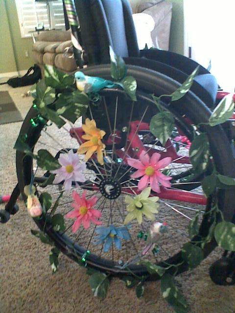 Any tips on feminizing a wheelchair? Wheels1