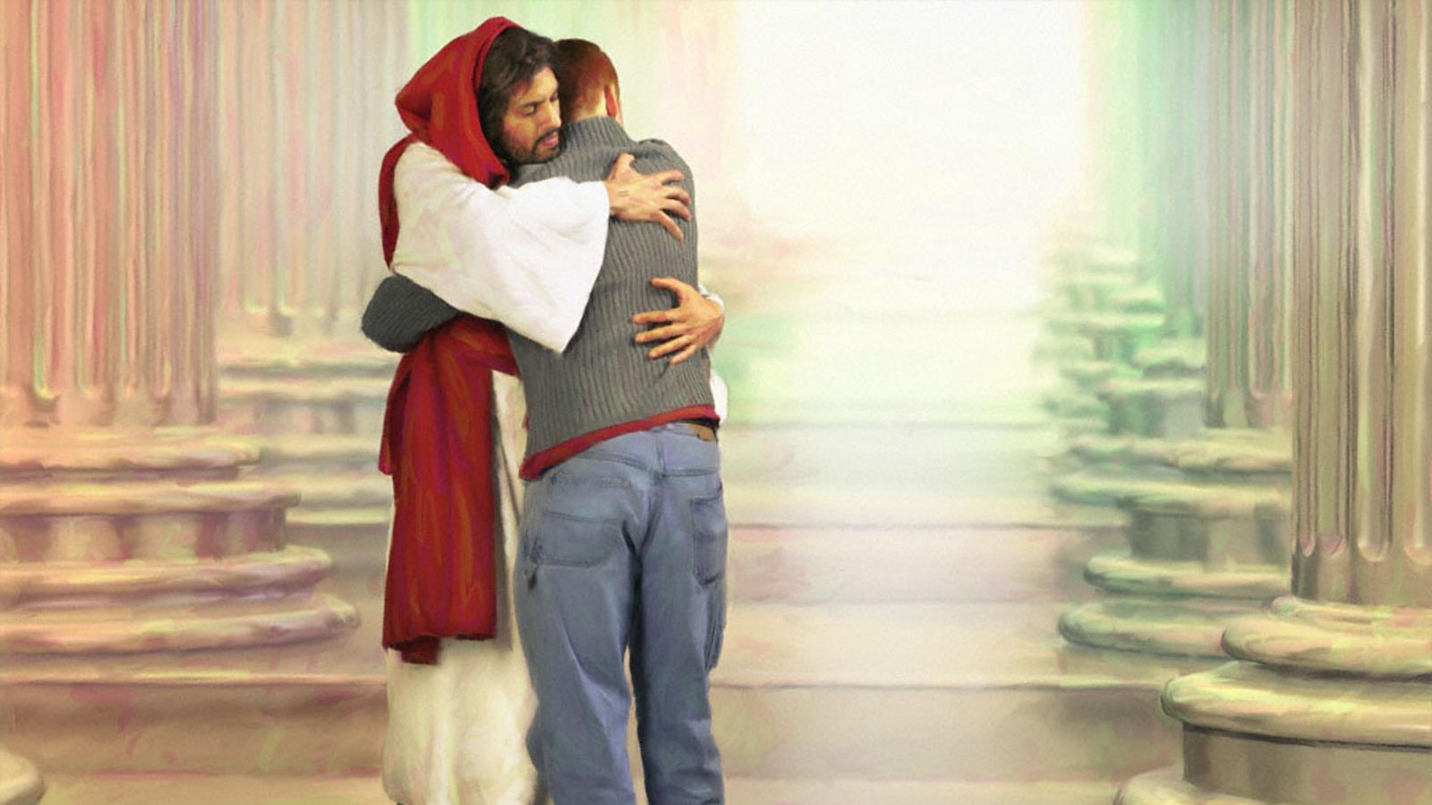 Priez-vous pour la Conversion de votre Famille et de vos Amis(es)? ? - Page 2 Jesus%2BHugging%2BGuy%2BHD