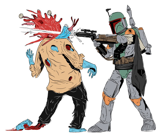 Star Wars - The Cool Weird Freaky Creepy Side of The Force - Page 38 Boba_Fett_vs_Zombie