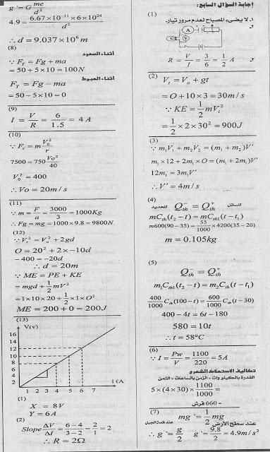 بنك اهم اسئلة الادارات والمدارس فى الفيزياء لاولى ثانوى بالاجابات تجميع ملحق جريدة الجمهورية ابريل 2013 Scan0005