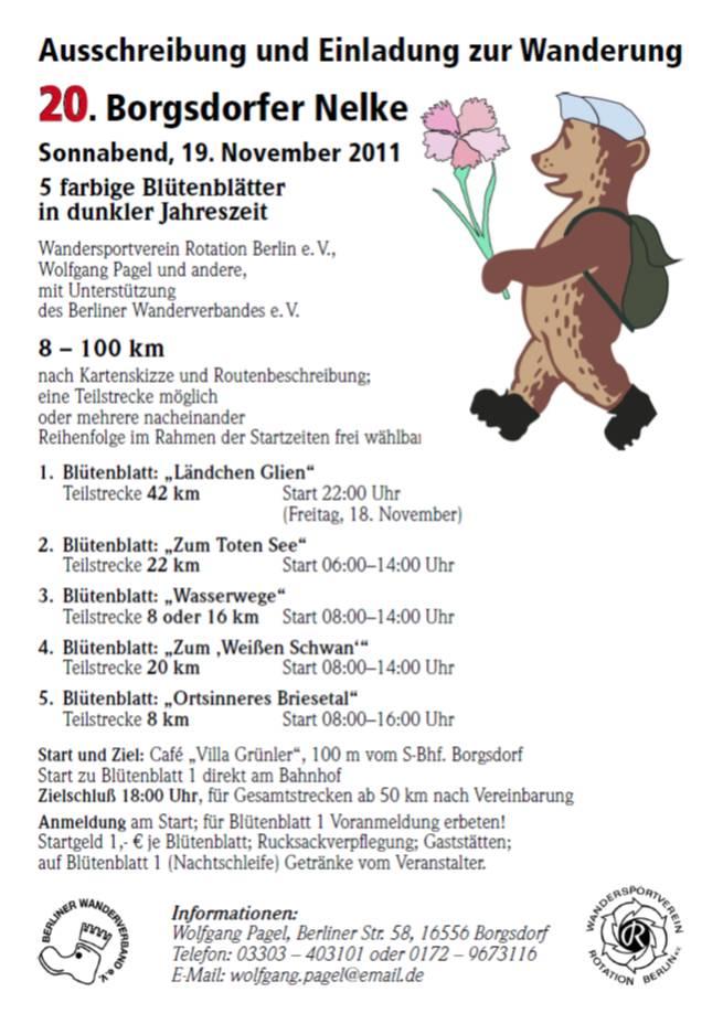 Borgsdorfer Nelke (prox Berlin, D), 100km : 24 novembre 2012 Borgsdorf