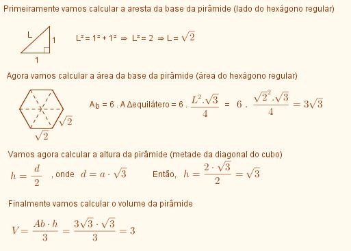 Esfera inscrita em pirâmide hexagonal (Fuvest?) Volume