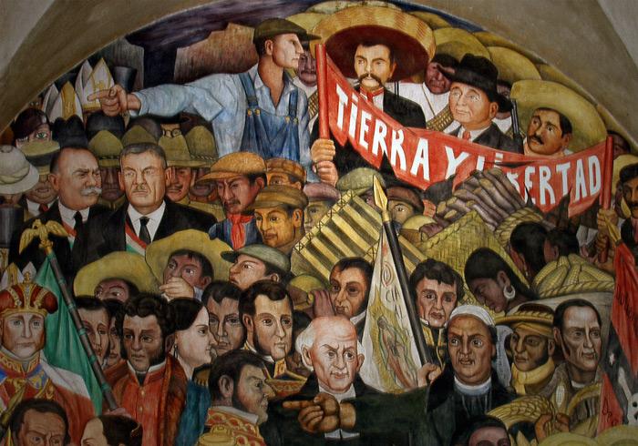 Las Verdaderas Revoluciones son siempre dificiles Tierra-y-libertad-diego-rivera-7