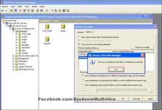 Como Restaurar uma Database no SQL Server 2000 Part10