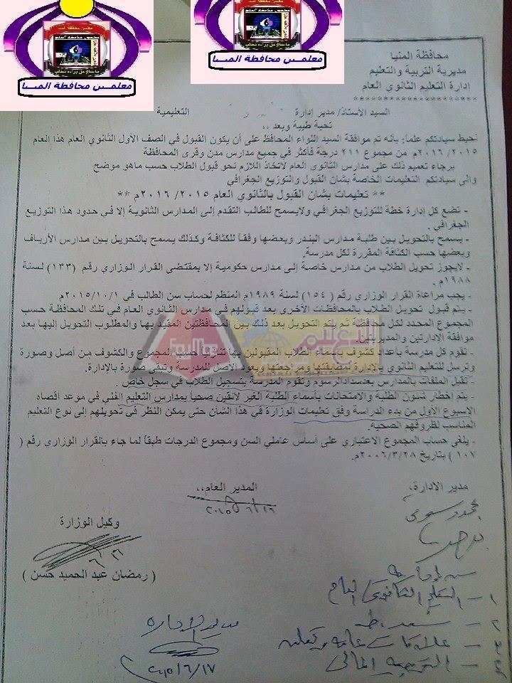 تنسيق القبول بالصف الاول الثانوى 2016 لجميع محافظات مصر - صفحة 5 Modars1.com_%25D8%25A7%25D9%2584%25D9%2585%25D9%258A%25D9%2586%25D8%25A7