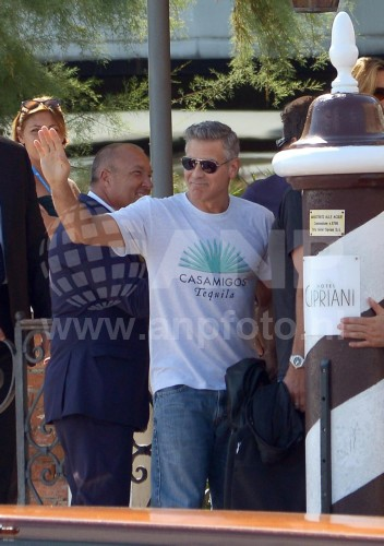 George Clooney arrives in Venice 24414930