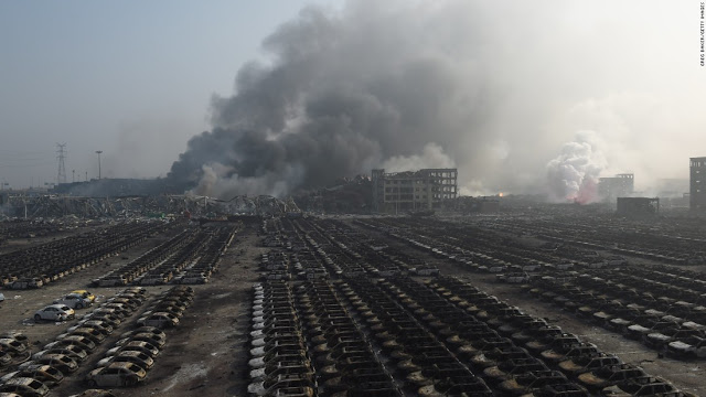 UPDATE: China: Massive Explosion Rocks Chinese Port city of Tianjin: Many feared dead  150813091511-tianjin-blast-12-super-169