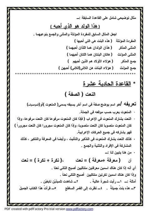 """ملف راااااائع شامل كل """"قواعد اللغة العربية للمرحلة الابتدائية"""" 12"""