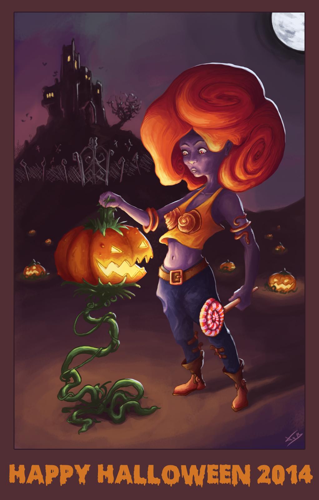 XaB en folie ! Dessin_Libre_2014.10.31-Halloween-06
