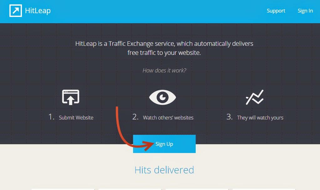 شرح موقع HitLeap لتبادل الزيارات لموقعك 1