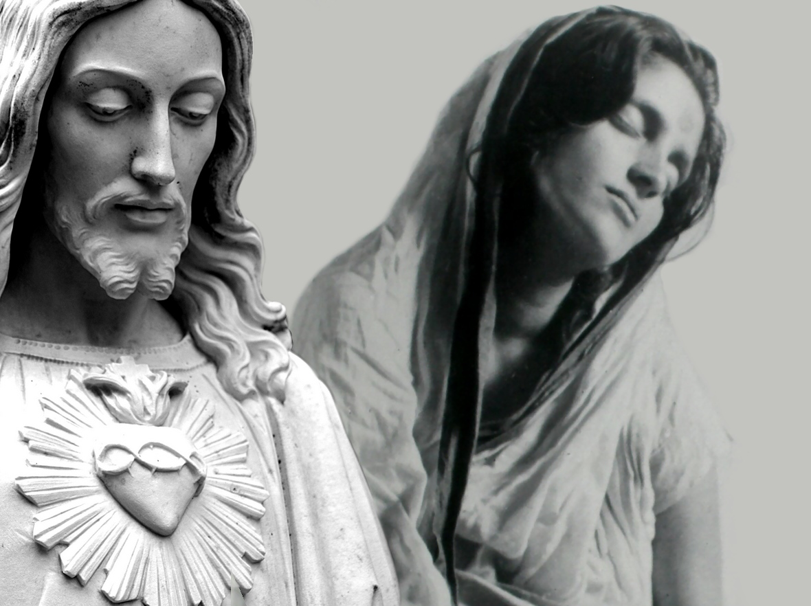 Mâ Ananda Moyî  .......La Mère Divine incarné....... Jesus-wallpaper-anandamayi-ma