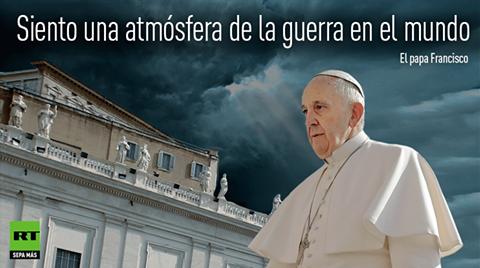 • El Papa Francisco: En esta «atmósfera» de Tercera Guerra Mundial...  FRANCISCO%2BGUERRA