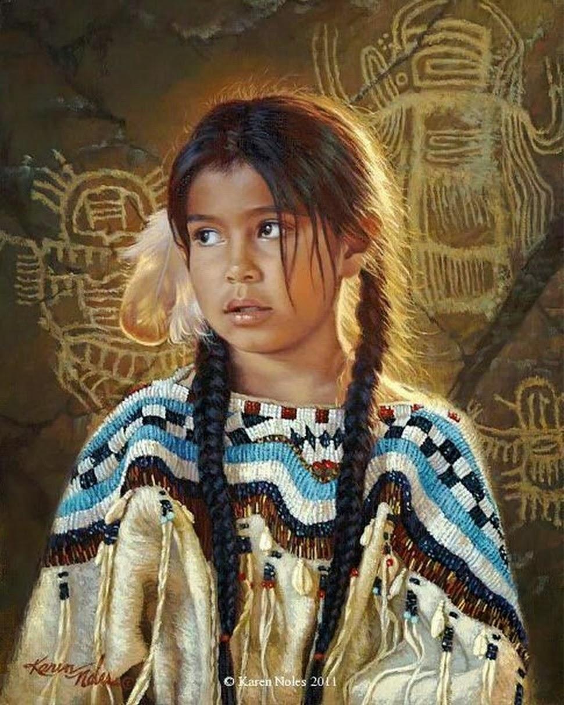 Bienvenidos al nuevo foro de apoyo a Noe #243 / 10.04.15 ~ 12.04.15 - Página 2 Pinturas-indias-americanas-pintadas-al-oleo