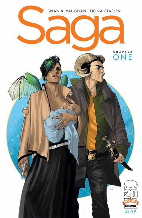 Saga, novi serijal autora stripova Y: The Last Man i Pride Of Baghdad Saga-1-cover-vaughan-staples-image-comics