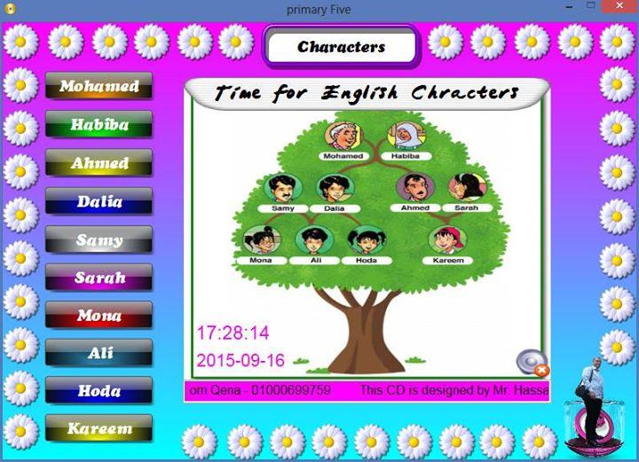 اسطوانة تفاعليه لشخصيات منهج Time for English لمادة اللغة الانجليزية للمرحلة الابتدائية بجميع صفوفها W2