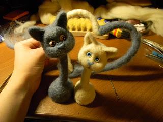 Мастер класс по созданию парных кошек     Elchy DSCN6062