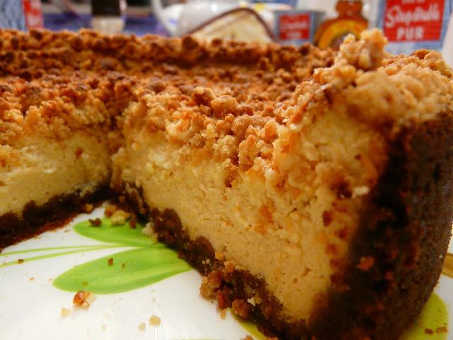 Cheesecake au sirop d'érable et crumble P1030139