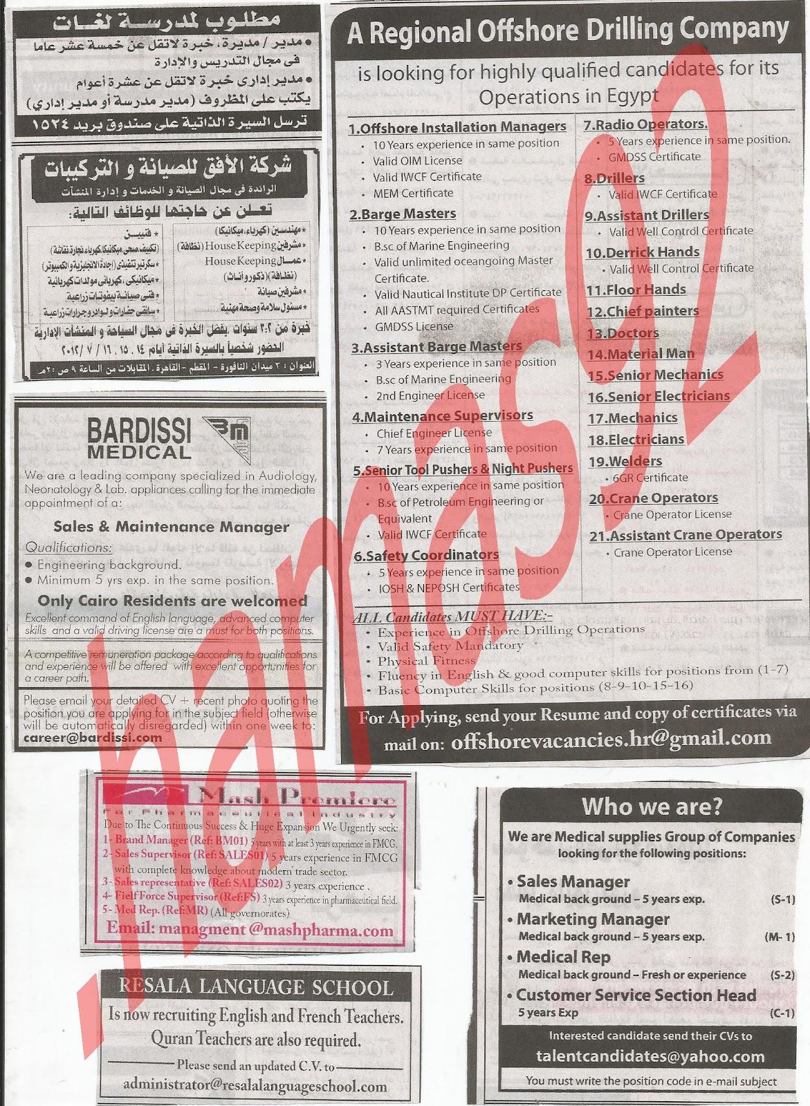 اعلانات وظائف جريدة الاهرام الجمعة 13/7/2012 كاملة - الاهرام الاسبوعى 3