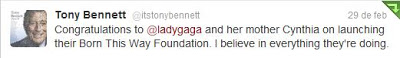 Otros artistas opinan sobre Lady Gaga [2] - Página 25 Tonybennettwitter