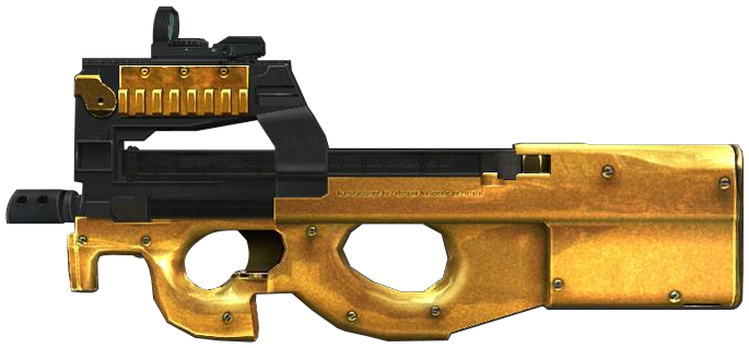 [Pack] P90 Gold - Point Blank 10462371666833964541