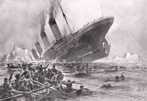 El futuro ya es el presente. Hundimiento-Titanic