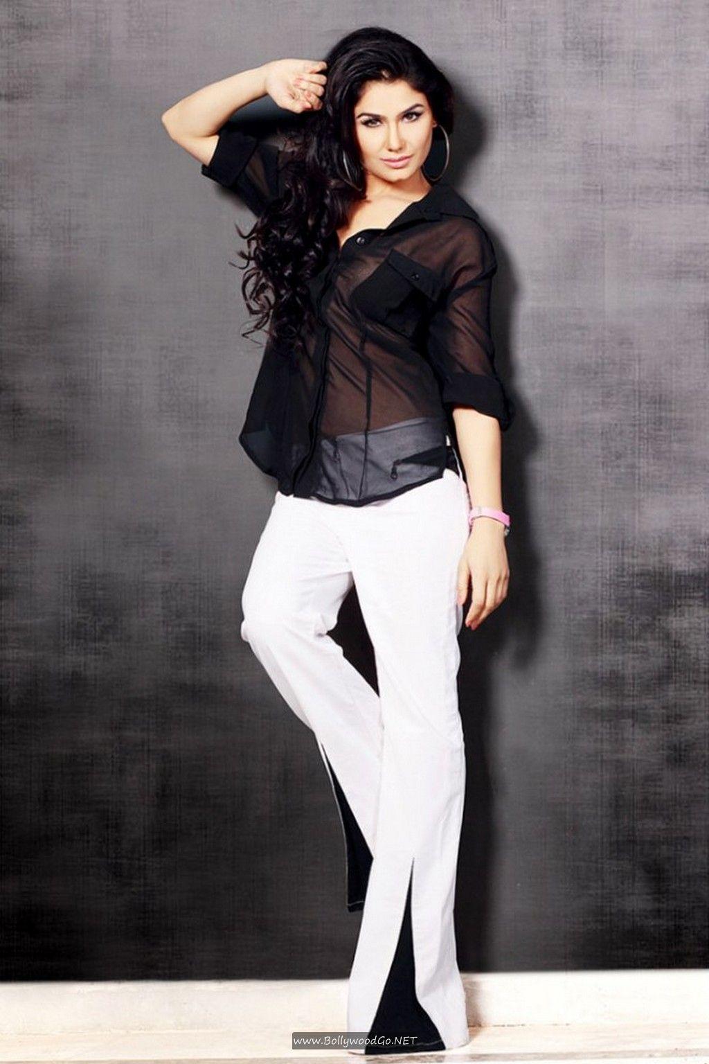 Kangana Sharma Hot Images in Black Shirt And White Pent Kangana-Sharma-Hot-Images-7