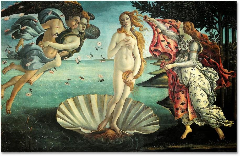 Los mejores relatos de la Mitología Griega Nacimiento-venus
