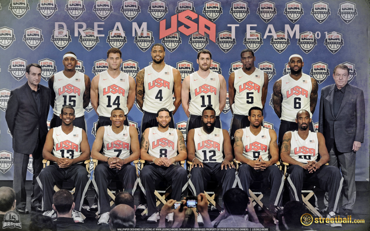 ¿Cuánto mide Kevin Durant? - Altura real: 2,08 - Real height USA_Dream_Team_2012_Olympic_Basketball_Wallpaper