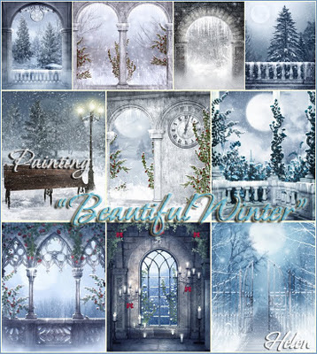 """Painting """"Beautiful Winter"""" by Helen 11"""