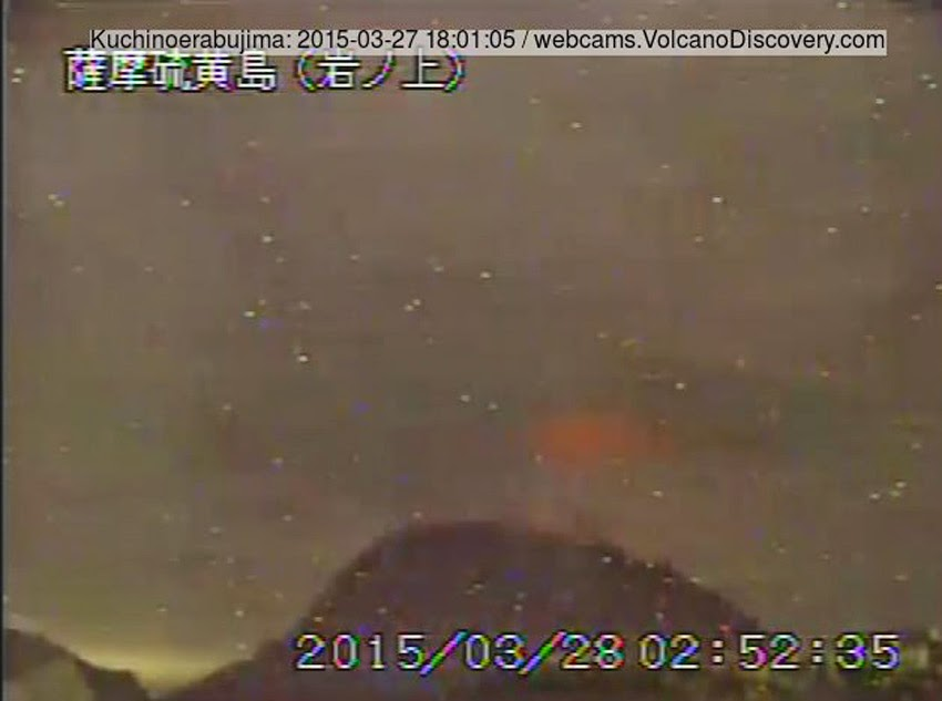 GLOBAL VOLCANISM: The Latest Report Of Volcanic Eruptions, Activity, Unrest And Awakenings – March 28, 2015! Kuchino