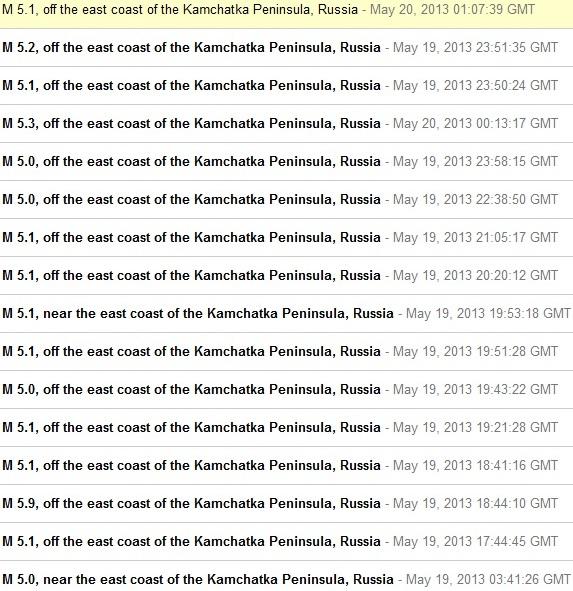 Fortes tensions sur la plaque Pacifique, séismes au Kamtchatka et éruptions volcaniques en alaska Kamtchatka