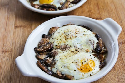 Recipe for Baked Eggs with Mushrooms and Parmesan Baked-eggs-mushrooms-6-kalynskitchen