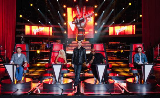 Christina cantó junto a sus compañeros de ''The Voice''  Voice_547x336