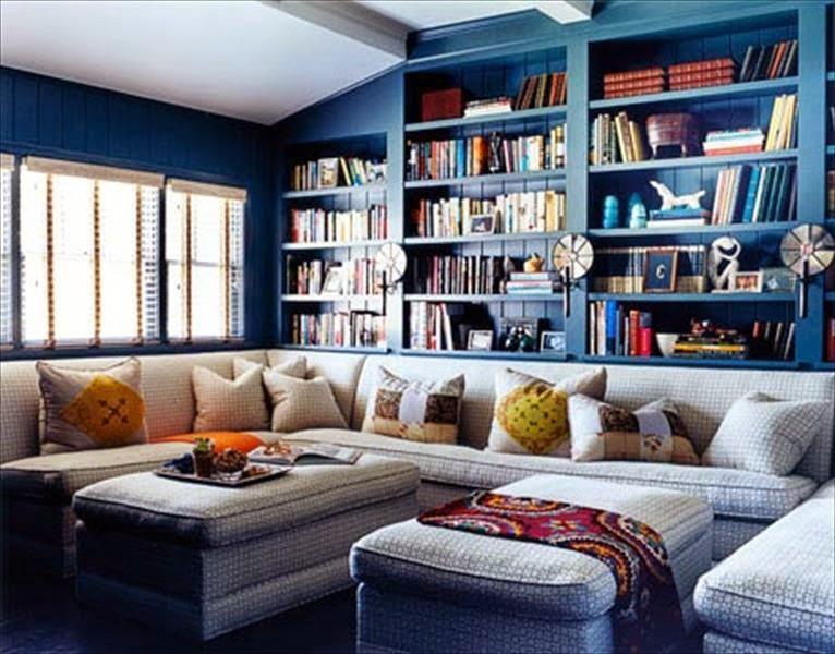 الأزرق في الأثاث وإكسسوارات المنزل 31