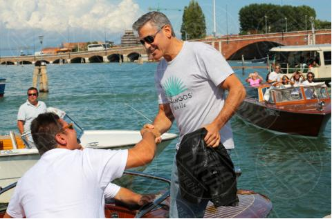 George Clooney arrives in Venice Venise2