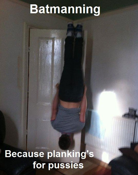 Vosotros sois más de planking o de owling? Batmanning
