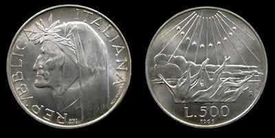 Numismatica e Filatelia 500lireDante
