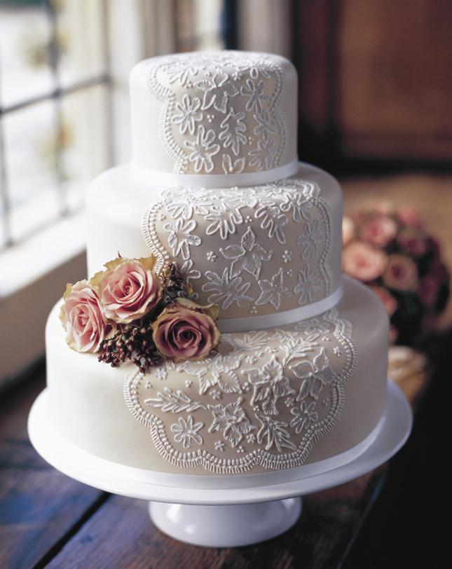 Svadbene torte Lace-Wedding-Cake-4