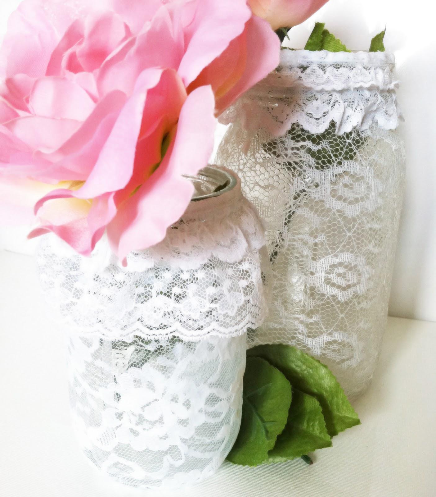 Project DIY: Lace Mason Jars  IMG_6188