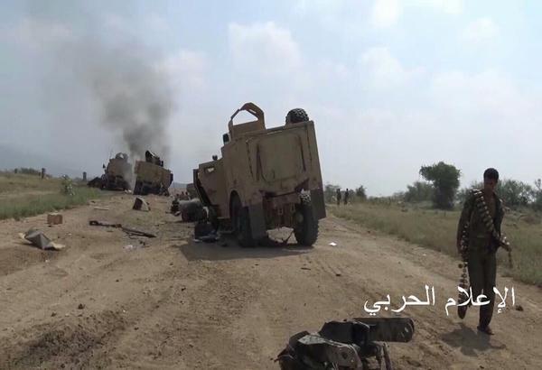 Yemeni Conflict: News - Page 21 Saudi%2Bvehicles%2Bdestroyed%2Bby%2BYemeni%2BArmy%2Bin%2BJizan%2B4
