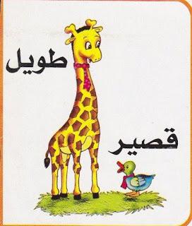لتعليم الاطفال الصفات المضادة بالرسومات الشيقة باللغة العربية حضانة KG1 & KG2 1