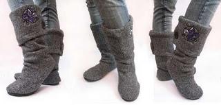 خطوات عمل بوت من الصوف للشتاء بالصور Your-finished-boots