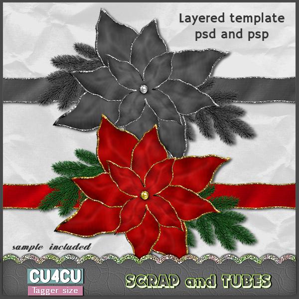 Elegant Poinsettia Template (CU4CU) .Elegant%2BPoinsettia%2BTemplate_Preview_Scrap%2Band%2BTubes