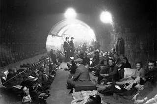 Aldwych Underground Station, London , 1940