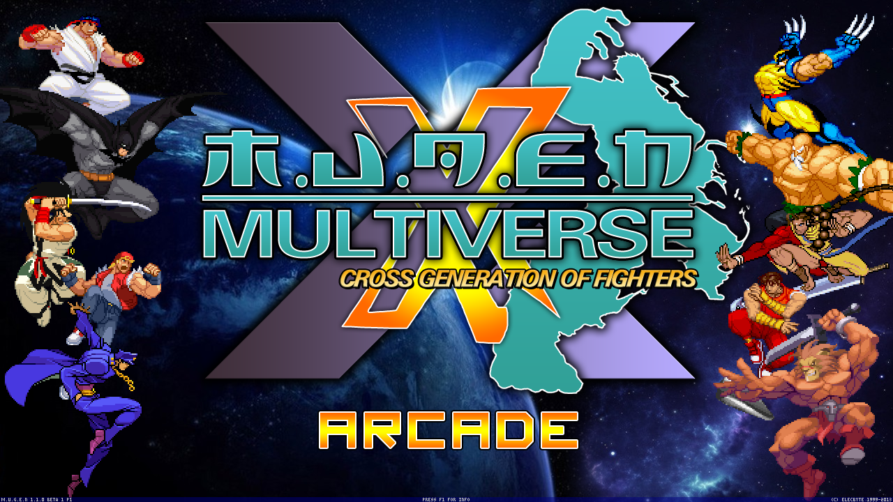 Mugen Multiverse - Cross generation of fighters - 720p - 1.1 Only. Mugen001