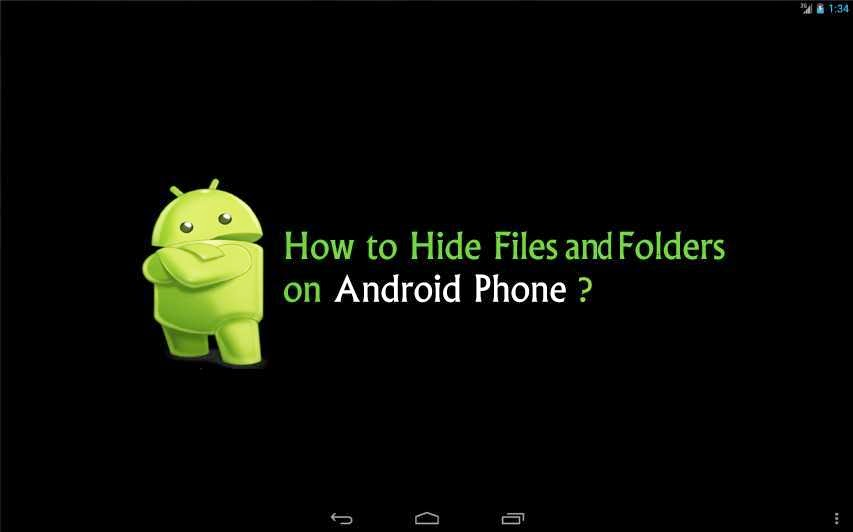 How to hide folder or files in android without any app?  Hide-files-and-folder-on-android-phone