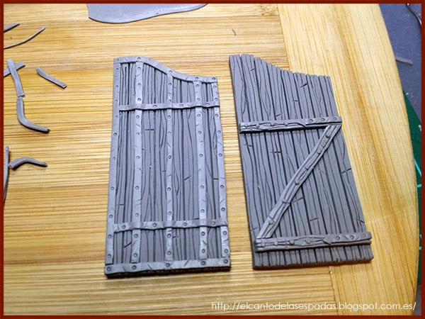 New and Old scenery. - Page 9 Porton-Puerta-Madera-Castillo-Castle-Wooden-Gate-Warhammer-Mordheim-11