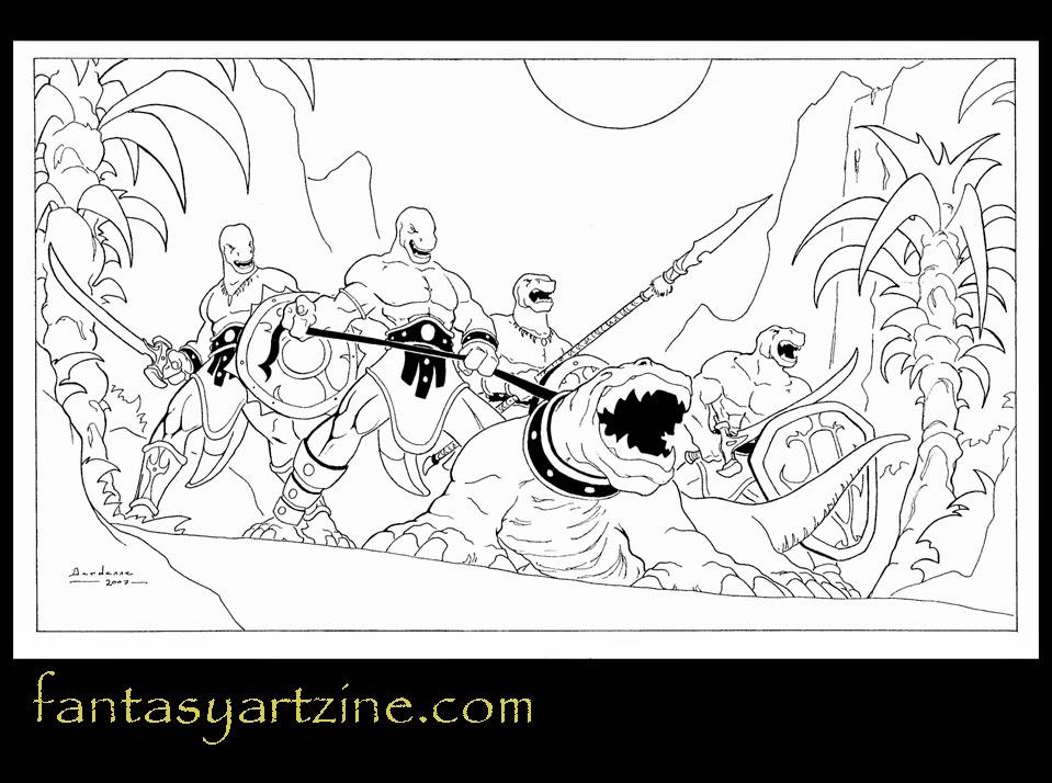 Le site dont VOUS êtes le dessinateur... Dessin-hommes-l%C3%A9zards-et-monstre-reptilien
